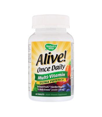 Мультивитамины Alive! Once Daily от Nature's Way