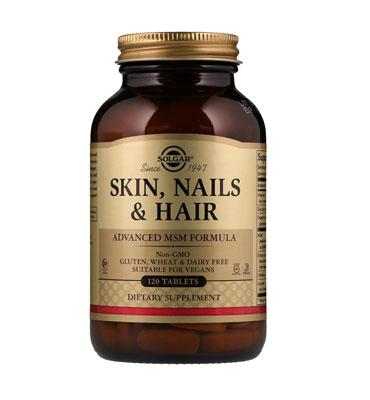 Витаминная добавка Skin, Nails & Hair, Advanced MSM Formula от Solgar