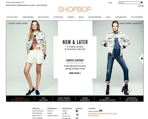 Ассортимент Shopbop