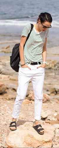 Белые джинсы прямого кроя