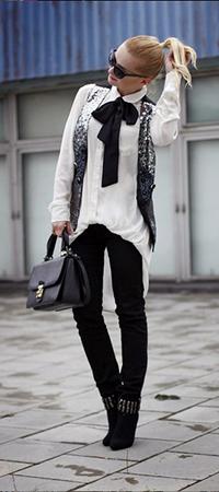 Жилет и блузка