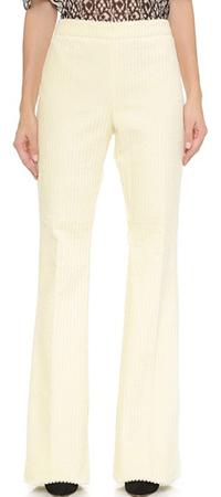 Широкие брюки с узкими штанинами