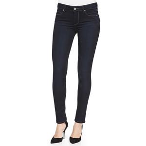 Однотонные темно-синие джинсы