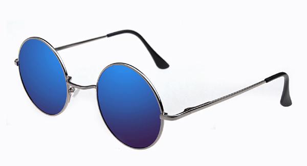 Круглые очки с зеркальными линзами в ретро стиле