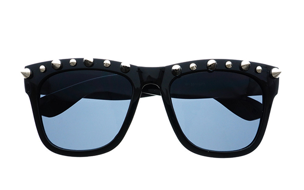 Freyrs Gothic Style Metal  Spikes Cool Punk Large Sunglasses W57