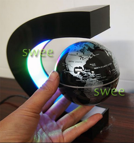 Парящий глобус с LED подсветкой
