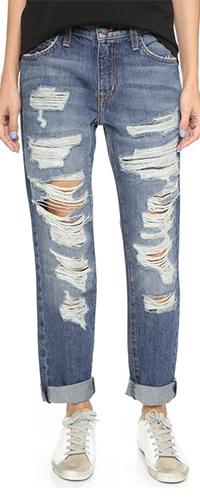 Рваные джинсы широкие бойфренды