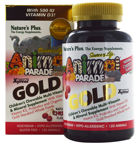 Nature's Plus, Source of Life Animal Parade Gold, Children's Chewable Multi-Vitamin & Mineral Supplement