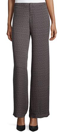 Широкие брюки со средней шириной