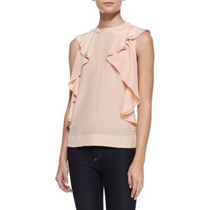 Блуза с вертикальными обоками