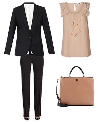 Блуза с оборками в деловом стиле