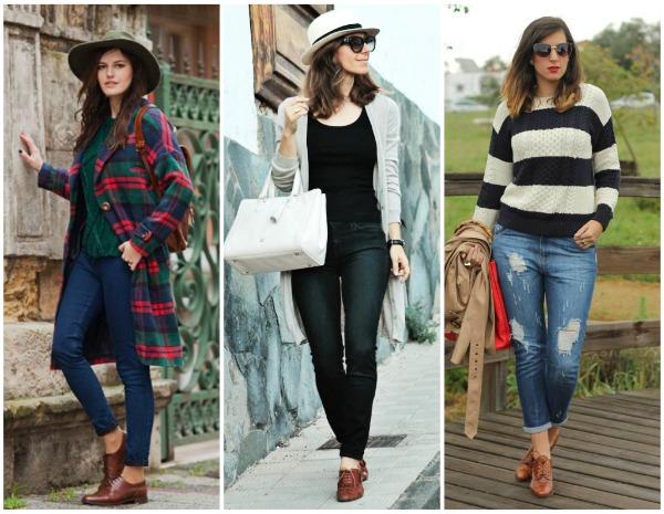 оксфорды с джинсами