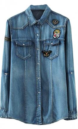 Средняя джинсовая рубашка