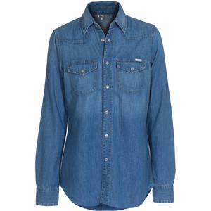 Рубашка с перламутровыми пуговицами