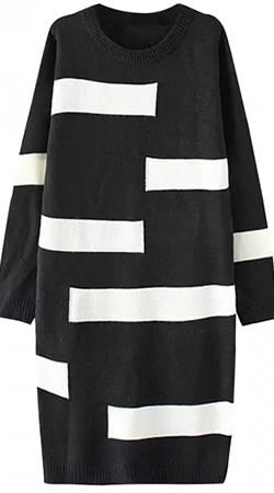 Платье-свитер с принтом