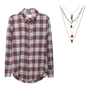 Рубашка с ожерельем