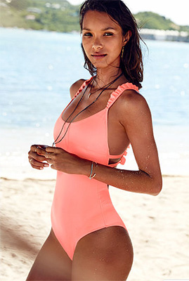 RUFFLE STRAP  ONE-PIECE