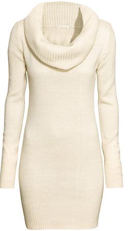 Платье-свитер с хомутом