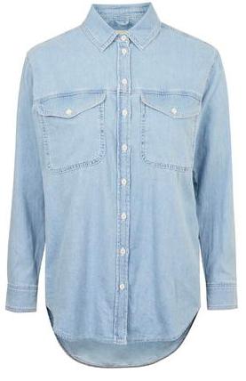 Светлая джинсовая рубашка