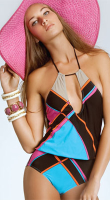 Feathers One Piece Swimsuits by Red Carter 2011 Swimwear